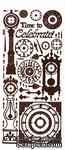 Набор наклеек-высечек HOTP - Time to Celebrate Dazzles Brown, размер 10х22,5 см, 52 штуки - ScrapUA.com