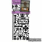 Набор наклеек-высечек HOTP - Card Hardware Dazzles Black, размер 10х23 см, 49 шт., цвет черный. - ScrapUA.com