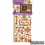 Набор наклеек-высечек HOTP - Card Hardware Dazzles Copper, размер 10х23 см, 49 шт., цвет медь. - ScrapUA.com