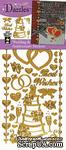 Набор наклеек-высечек HOTP - Wedding & Anniversary Dazzles Gold, размер 10х22,5 см, 39 штук - ScrapUA.com