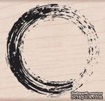 Резиновый штамп Hero Arts -Painted Circle, на деревянном блоке - ScrapUA.com