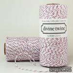 Хлопковый шнур от Divine Twine - Purple Plum, 1 мм, цвет фиолетовый/белый, 1м - ScrapUA.com