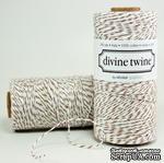 Хлопковый шнур от Divine Twine - Brown Sugar, 1 мм, цвет коричневый/белый, 1м - ScrapUA.com