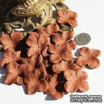 Гортензия, цвет: коричневый, 3,2 см, 20 шт. - ScrapUA.com