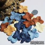 Гортензия, микс цветов: коричневый, синий, 3,2 см, 20 шт. - ScrapUA.com