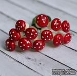 Грибочки от Scrapberry's - мухоморы, 12 шт - ScrapUA.com