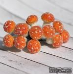 Грибочки оранжевые в обсыпке от Scrapberry's, 12 шт. - ScrapUA.com