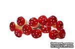 Грибочки от Scrapberry's - Красные, мини, 12 шт. - ScrapUA.com