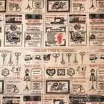 Ткань для рукоделия от Hobby&You, 50x50см (лен с принтом) - Швейное Ателье - ScrapUA.com
