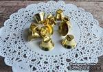 Колокольчики, круглые, цвет золотой, диаметр 18 мм, 10 шт. - ScrapUA.com