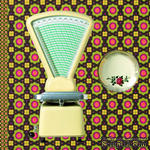 "Салфетка для декупажа ""Бабушкина кухня: весы, тарелка"", размер: 33х33см - ScrapUA.com"