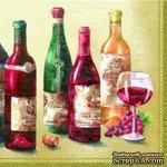 "Салфетка для декупажа ""Вино.Grand Cru"", размер:25х25см - ScrapUA.com"