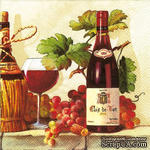 "Салфетка для декупажа ""Вино,виноград"", размер: 33х33 см - ScrapUA.com"
