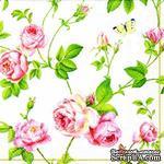 """Салфетка """"Плетение ветвей и розы"""", размер: 33х33 см, 1 шт. - ScrapUA.com"""