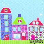 """Салфетка """"Сказочные домики"""", цвет голубой, 33х33см, 1 шт. - ScrapUA.com"""