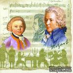 """Салфетка для декупажа """"Моцарт, ноты"""", цвет фона: кремовый, размер: 33х33 см - ScrapUA.com"""