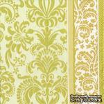 """Салфетка для декупажа """"Королевский узор"""", цвет фона: кремовый, размер: 33х33 см - ScrapUA.com"""
