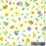 """Салфетка для декупажа """"Полевые цветы"""", цвет фона: кремовый, размер: 33х33 см - ScrapUA.com"""