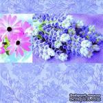 """Салфетка для декупажа """"Лавандовая любовь"""", цвет фона: синий, размер: 33х33 см - ScrapUA.com"""