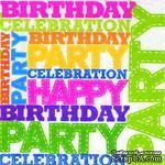 "Салфетка для декупажа ""Birthday Party"", 6 цветов, размер: 33х33 см - ScrapUA.com"