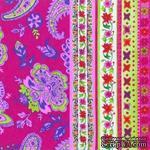 """Салфетка для декупажа """"Цветы и узоры"""", цвет фона: розовый, размер: 33х33 см - ScrapUA.com"""
