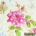 """Салфетка для декупажа """"Роза"""", цвет фона: кремовый, размер: 33х33 см - ScrapUA.com"""