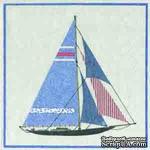 """Салфетка для декупажа """"Парусник"""", цвет фона: кремовый, размер: 33х33 см - ScrapUA.com"""