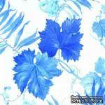 """Салфетка для декупажа """"Синие виноградные листья"""", размер: 33х33 см - ScrapUA.com"""