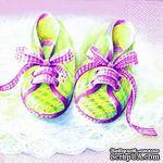 """Салфетка для декупажа """"Baby - туфельки"""", цвет: розовый, размер: 33х33 см - ScrapUA.com"""