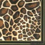 """Салфетка для декупажа """"Животный принт (жираф)"""", цвет фона: черный, размер: 33х33 см - ScrapUA.com"""