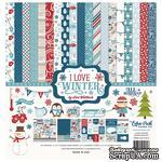 Набор бумаги от Echo Park - I Love Winter, 12+2 листа, 30х30 см - ScrapUA.com