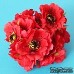 Цветок мака, красный, 1 шт. - ScrapUA.com