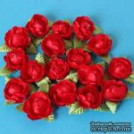Цветочки пиона, цвет красный, 1 шт. - ScrapUA.com