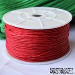 Вощеный шнур Red, 0.7 мм, цвет красный, 5 метров - ScrapUA.com
