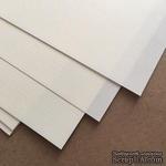 Лист дизайнерской бумаги, фактура лен, цвет слоновая кость, размер А4, 80 г/м - ScrapUA.com