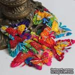 Бабочки, двухслойные, с глиттером, микс цветов: радужный, 6x см, 10 шт. - ScrapUA.com
