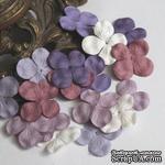Гортензия, микс цветов: сиреневый, 2,5 см, 20 шт. - ScrapUA.com