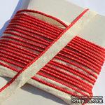 Каптал, с красной кромкой, ширина 12 мм,  длина 50 см - ScrapUA.com
