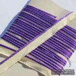 Каптал, с фиолетовой кромкой, ширина 12 мм,  длина 50 см - ScrapUA.com