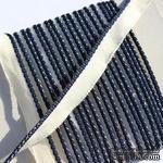Каптал, с темно-синей кромкой, ширина 12 мм,  длина 50 см - ScrapUA.com
