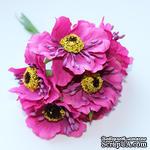Цветок мака, темно-розовый, 1 шт. - ScrapUA.com
