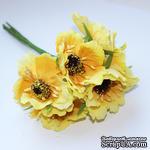 Цветок мака, желтый, 1 шт. - ScrapUA.com