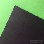 Двусторонний лист бумаги Hyacint, цвет черный, нестанд. размер 17,7х30, 110гр/м.кв - ScrapUA.com