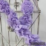 Лента с цветами,  цвет: сиреневый, ширина 4-4,5см, 30 см - ScrapUA.com