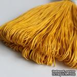 Вощеный шнур, 1 мм, цвет желто-горячий, 5 метров - ScrapUA.com