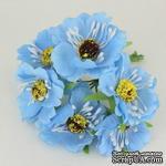 Цветок мака, голубой, 1 шт. - ScrapUA.com