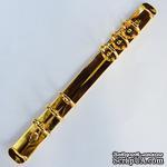 Кольцевой механизм на 6 колец диаметром 20 мм, длина механизма - 220 мм, цвет золотой, крепежи в наборе - ScrapUA.com