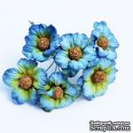 Ромашки, цвет голубой, 6 шт. - ScrapUA.com