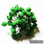 Ягодки в обсыпке, цвет зеленый, 30 шт. - ScrapUA.com