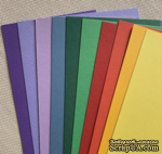 Набор полосок картона Brights - яркие, 10х30 см, 10 шт. - ScrapUA.com